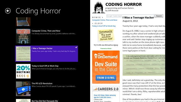 CodingHorror screen shot 2