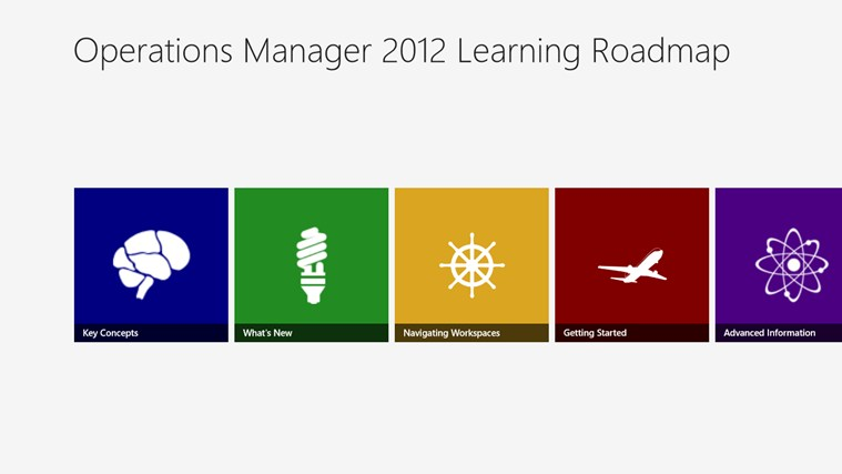 Operations Manager 2012 Learning Roadmap screen shot 0