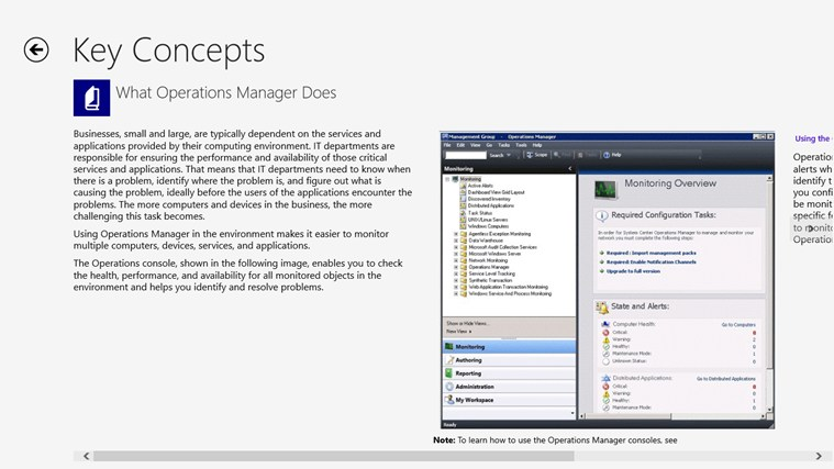 Operations Manager 2012 Learning Roadmap screen shot 2