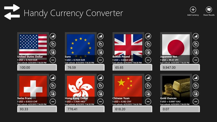 Handy Currency Converter screen shot 0