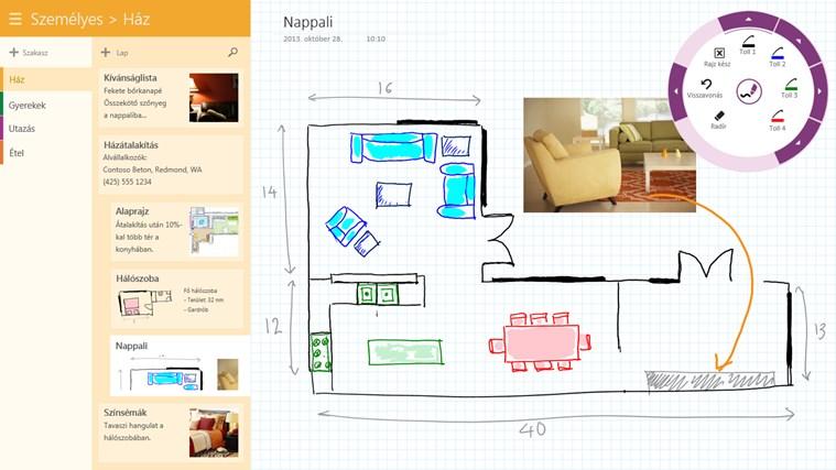OneNote – 2. képernyőkép