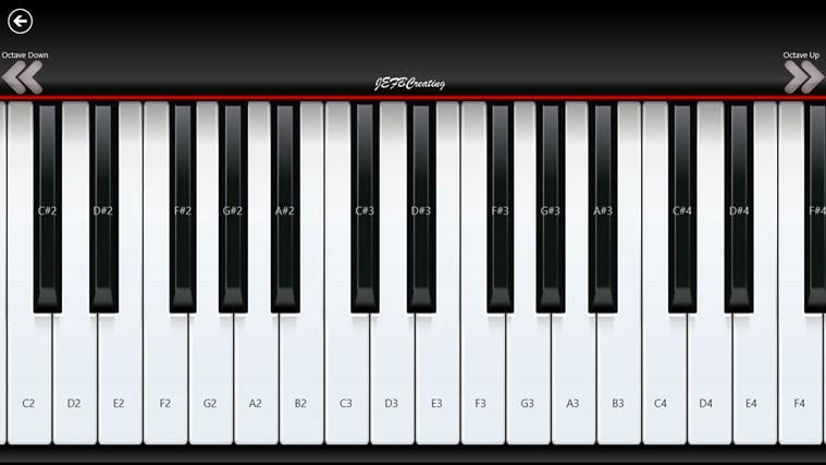 Piano8 capture d'écran 0