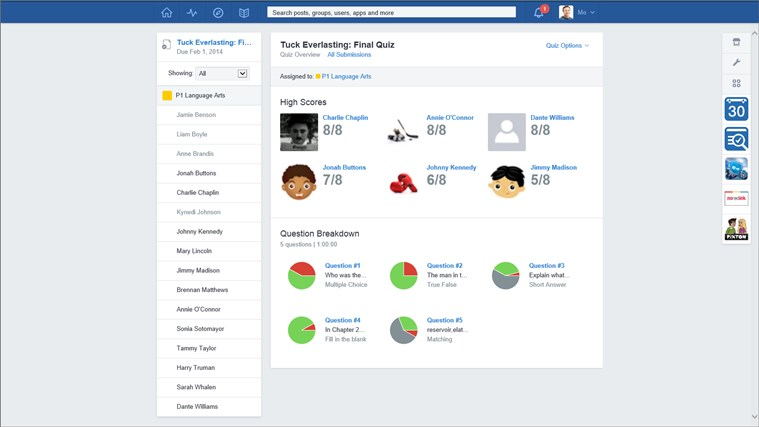Edmodo screen shot 4