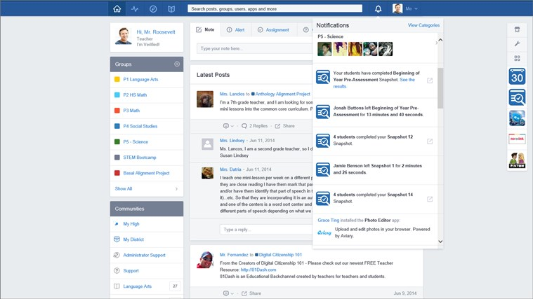 Edmodo screen shot 6