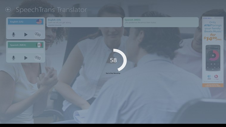 SpeechTrans Translator screen shot 2