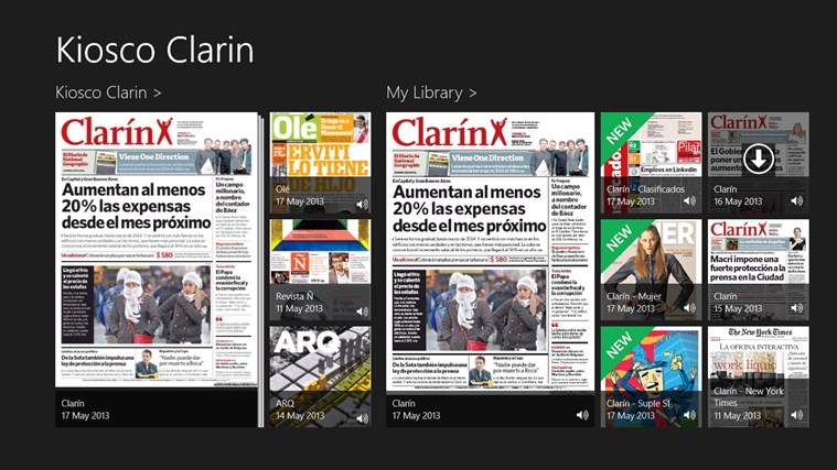 Clarin screen shot 0
