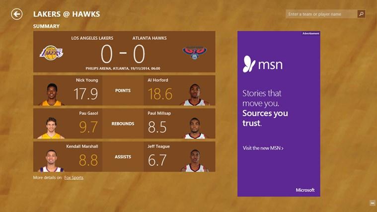 MSN Sport screen shot 6