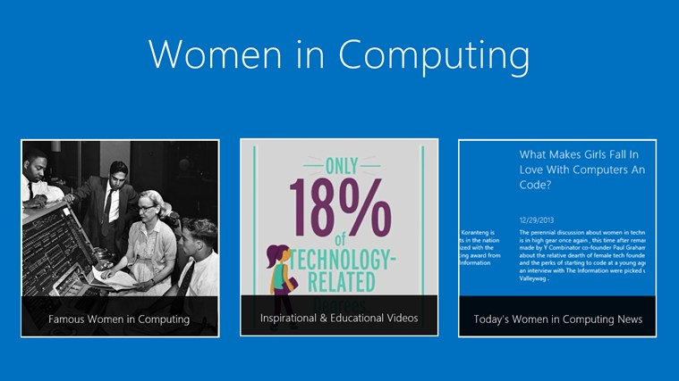 Women in Computing screen shot 0
