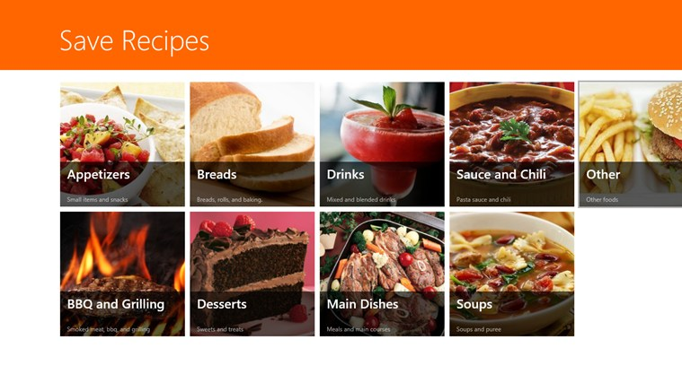 Save Recipes by MDR Applications