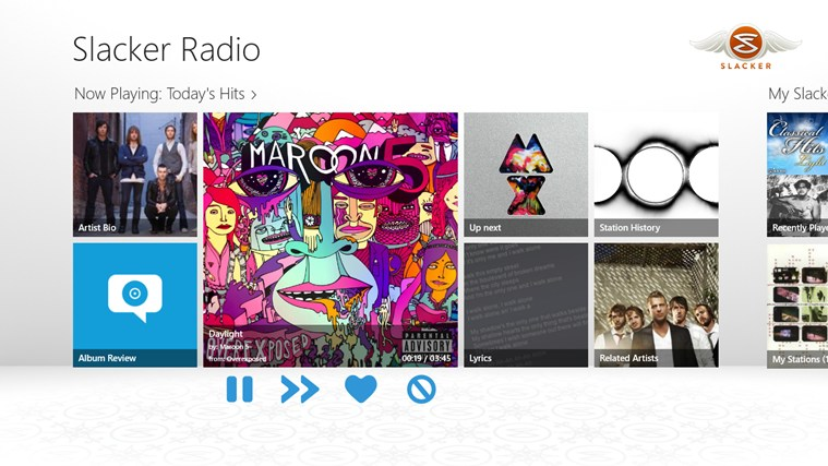 Slacker Radio screen shot 0
