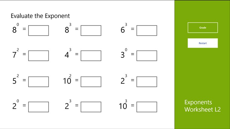 Printables Exponents Worksheet unit 2 exponents lessons tes teach worksheet l2 app for windows in the store
