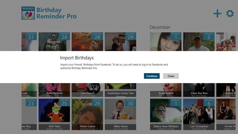 Birthday Reminder Pro screen shot 0
