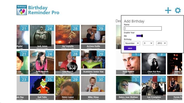 Birthday Reminder Pro screen shot 2