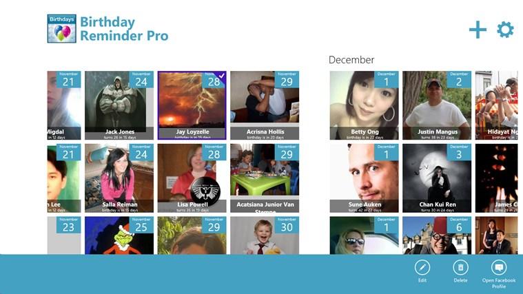 Birthday Reminder Pro screen shot 4