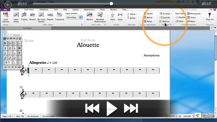 Sibelius 7 100 - QuickLook Guide captură de ecran 2