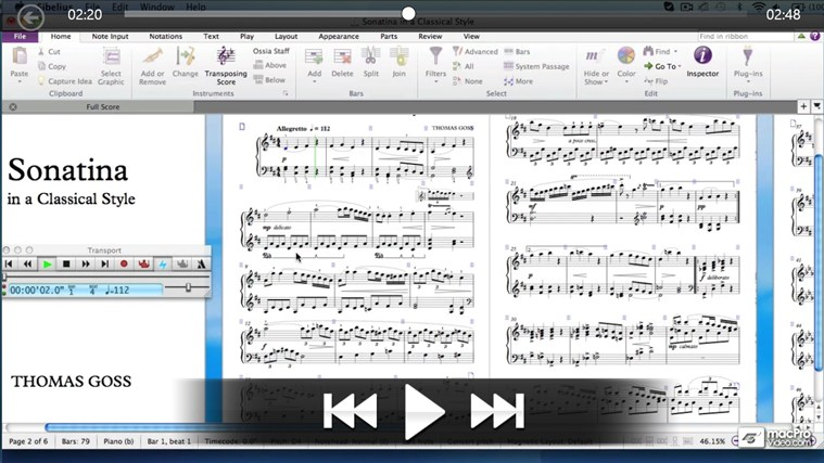 Sibelius 7 100 - QuickLook Guide captură de ecran 4