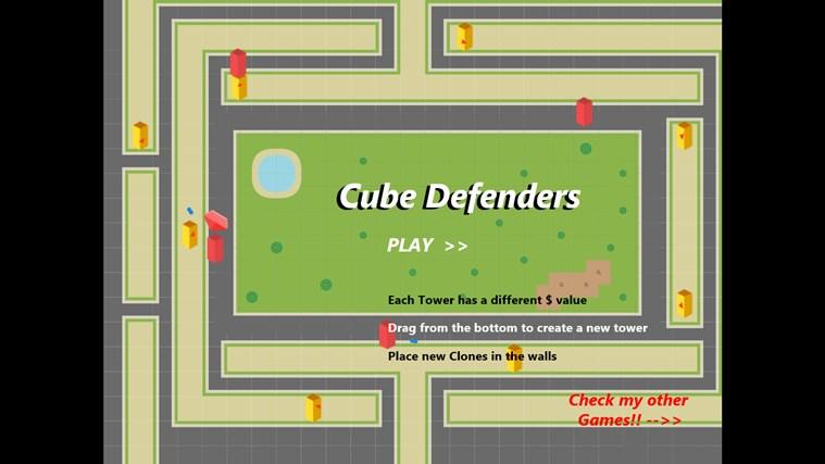Cube Defenders screen shot 2