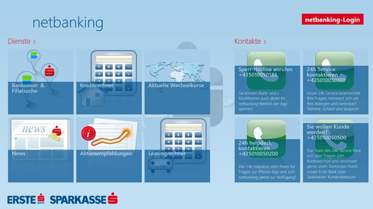 Erste Bank / Sparkasse Österreich - netbanking Screenshot 0