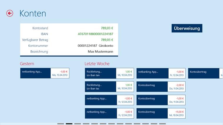 Erste Bank / Sparkasse Österreich - netbanking Screenshot 4