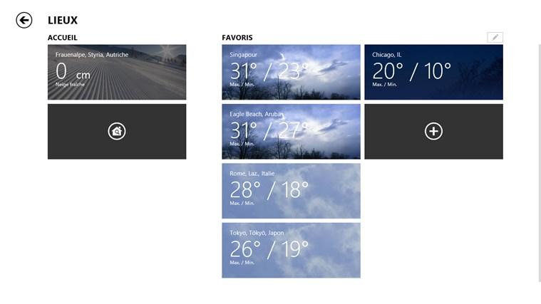 MSN Météo capture d'écran 6