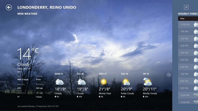 MSN Weather screen shot 0