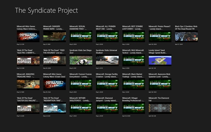 syndicate project channel Syndicate, or thesyndicateproject is a youtube channel started by tom cassell, born on the 23rd june 1993 in manchester, england, uk he uploads gaming videos, and so.