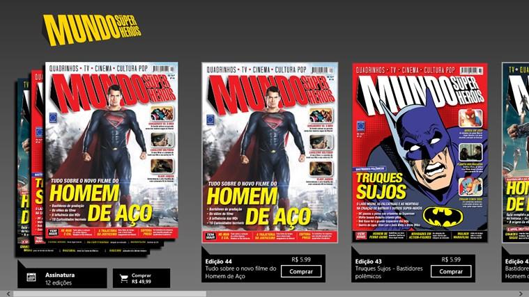 Revista Mundo dos Super-Heróis captura de pantalla 0