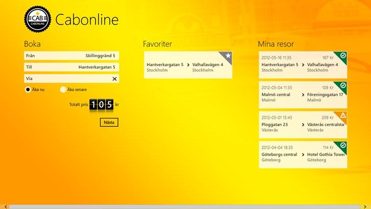 Taxi Cabonline-skärmbild 0