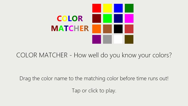Color Matcher screen shot 0
