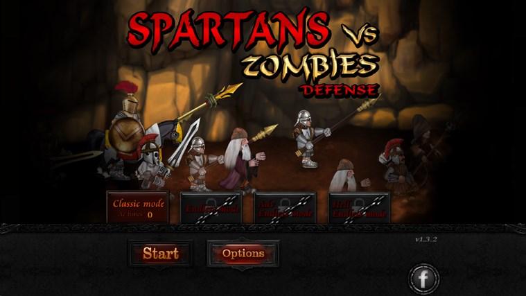 Spartans vs Zombies Defense screen shot 2