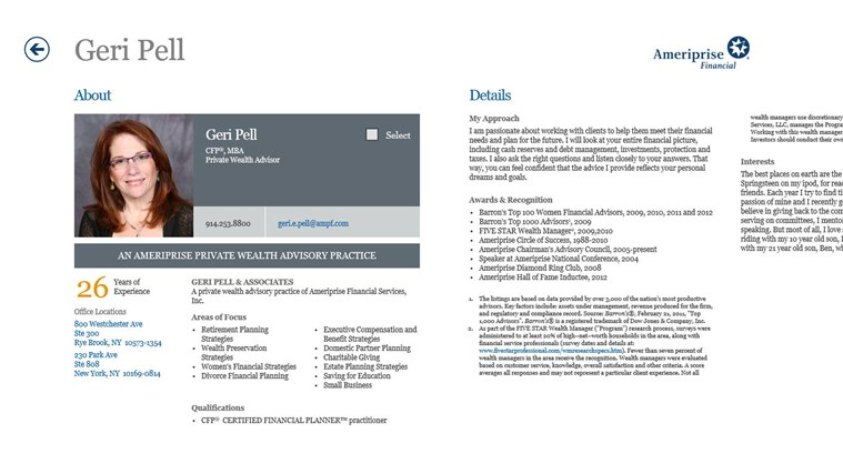Ameriprise Financial screen shot 2