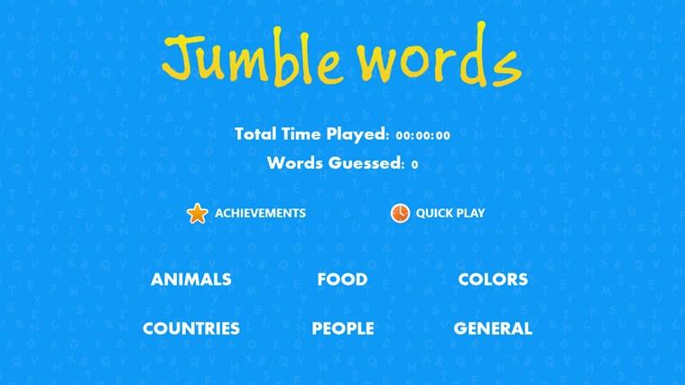 Jumbled Words Jumble Words Screen Shot 0