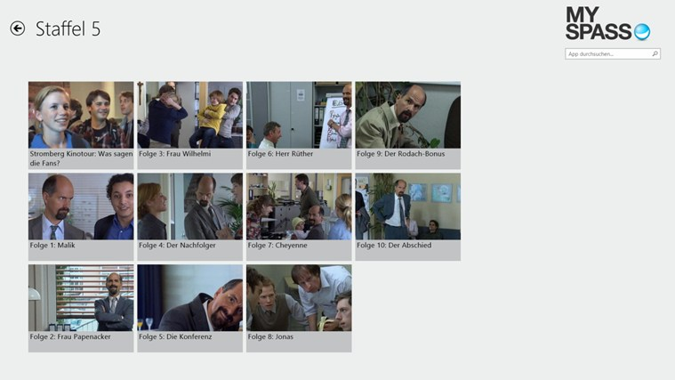 MySpass-App: TV-Shows kostenlos anschauen! Screenshot 2