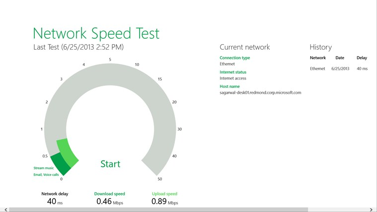 Network Speed Test screen shot 0
