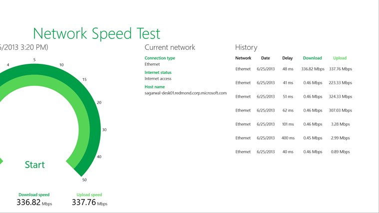 Network Speed Test screen shot 2