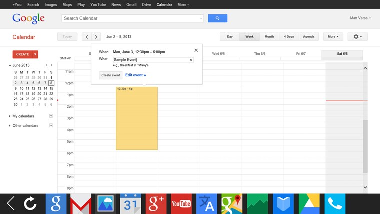G-Apps Browser: Search + Gmail + Calendar + Translate... screen shot 2