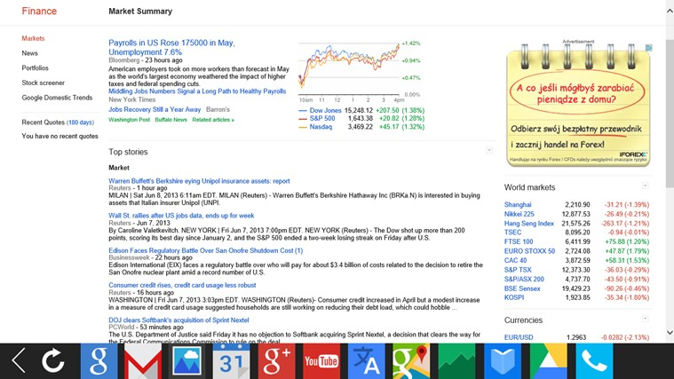 G-Apps Browser: Search + Gmail + Calendar + Translate... screen shot 8