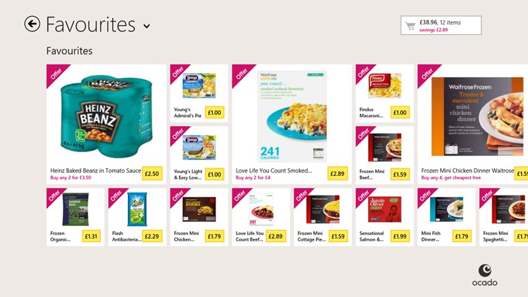 Ocado screen shot 2