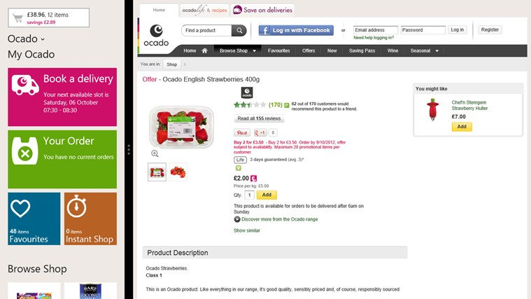 Ocado screen shot 4