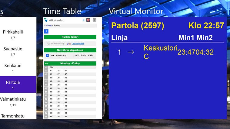 Tampere Bus Explorer screen shot 4