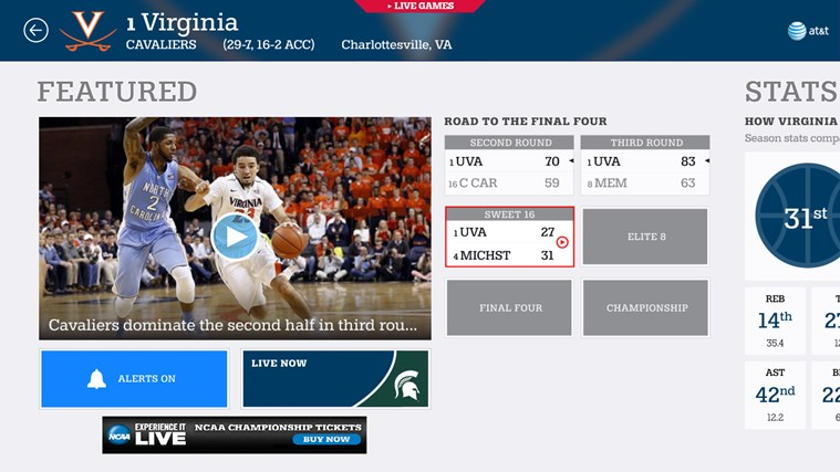 NCAA® March Madness® Live screen shot 4