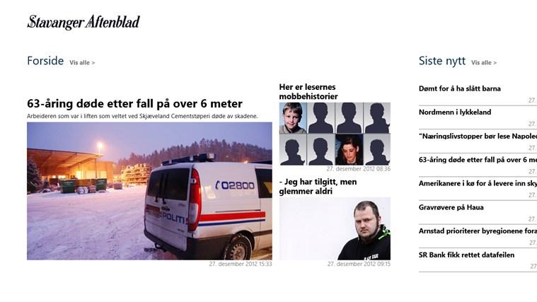 Stavanger Aftenblad skjermbilde 0