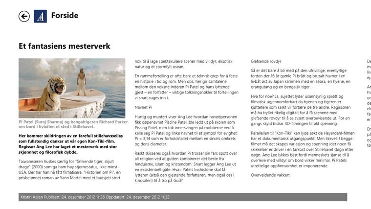 Stavanger Aftenblad skjermbilde 2