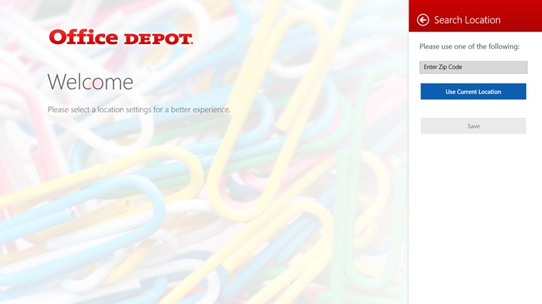 Office Depot screen shot 0