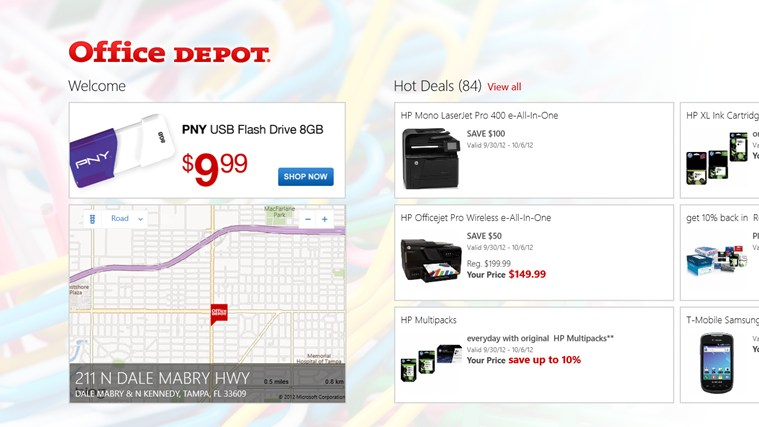 Office Depot screen shot 2