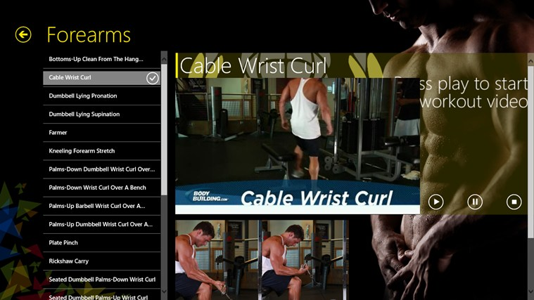 Gym Guide screen shot 2