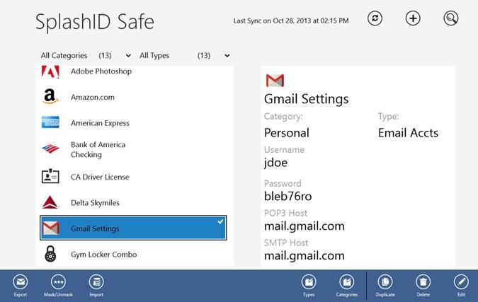 SplashID Safe screen shot 0
