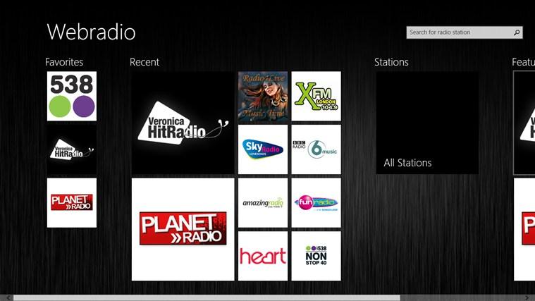 Webradio schermafbeelding 0