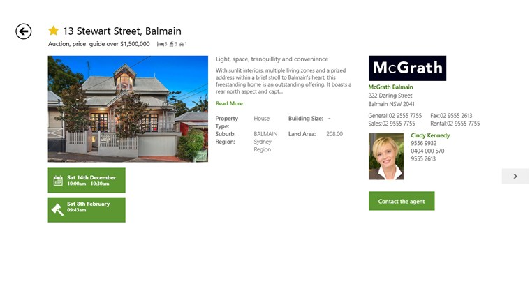 Domain.com.au Real Estate screen shot 2