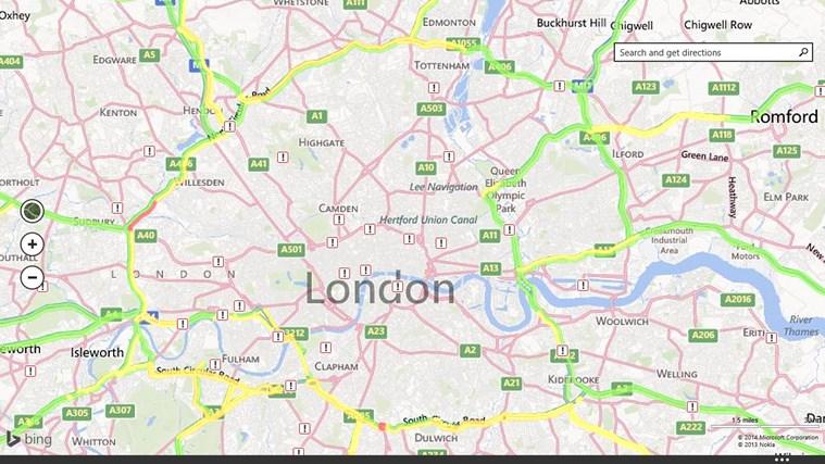 Maps screen shot 2